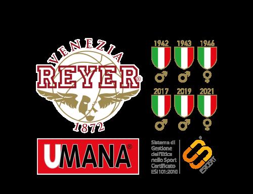 CSU Sponsor Partner di Reyer Venezia per la stagione sportiva 2021-2022